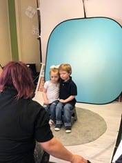 two kids at photo day