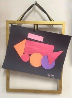 art construction paper shapes