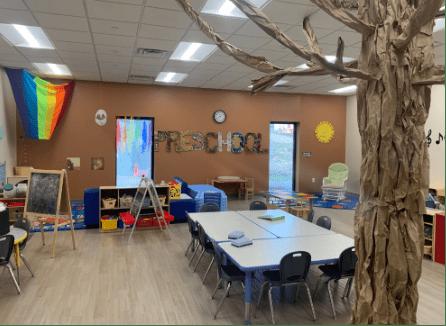 classroom at ybr preschool